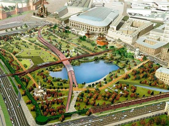 «Фундэкс» обустроит ландшафтный парк Зарядье