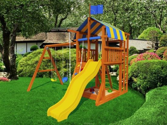 Детская игровая площадка на винтовых сваях «Фундэкс»
