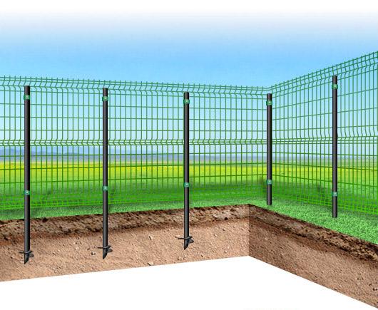 Забор из 3d-секций