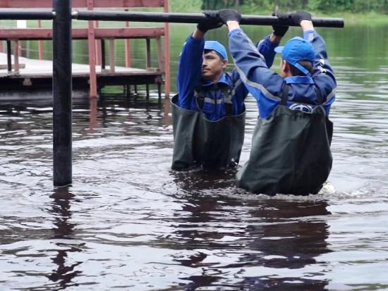Свайно-винтовая технология «Фундэкс» для объектов водной инфраструктуры